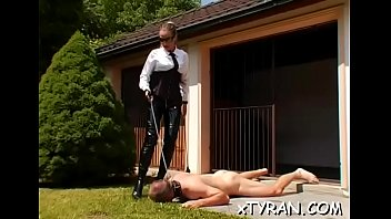 Horny domination fetish with tied up hottie getting dildoded porn image