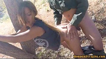 Hot brunette mexican girl gets caught and fucked by border patrol 4 2