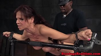 Bigtitted redhead sub spitroasted in bdsm mmf