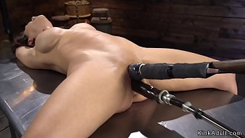 Vibrator clothes masturbate Shaved pussy milf takes machine in bdsm