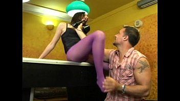 Slut in purple stockings fucked on pool table video