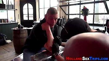 Dutch hooker in lingerie
