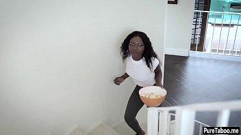 Ebony tighty girlfriend teen anal smashed by a nasty BF