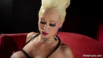 Latex breast prosthetic Nikita von james tied up