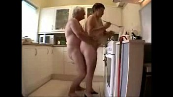 Fucking grandma in the kitchen