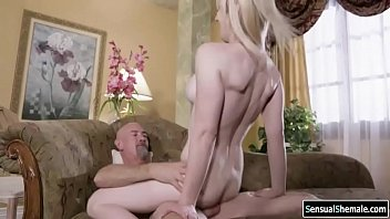 Jamie coxx shemale - Tgirl gets analed by old mens cock