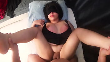 I fuck the whore Aunty while she is resting and when she wakes up she asks me to cum inside