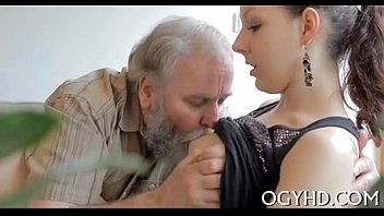 Fucking an old guy Young babe licked by an old guy-240p