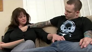 She could be his mother, but she likes young cocks