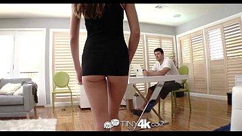 HD - Tiny4k Teen Kacy Lane shoves big cock in her tiny pussy