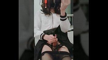 Cross dresser sex galleries 伪娘尿道插入电击射精