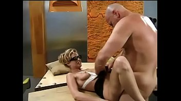 Apple bottom suit sweat Beautiful blonde candy apples sucks off big bald hunk in his office