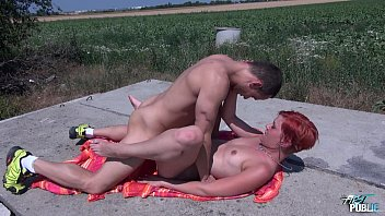 Hot stip and fuck Myfirstpublic public fucking in the woods