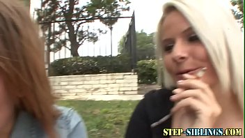 Lesbian stepsis climaxes getting fingered