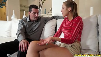 Step dad drilling Molly Mansons shaved pussy