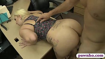 Big ass and big tits babe slammed by pervert pawn guy