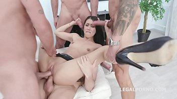 Lesson number #2 Alina Crystal gets 4on1 with Balls Deep Anal, Balls Deep DP, Gapes and Swallow GIO1136