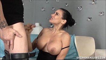 Busty Brunette Milf Jerking