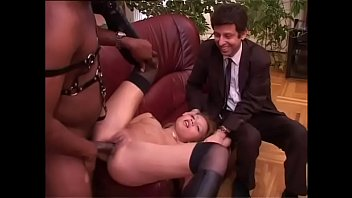 White cuckold looks his wife banged by a black