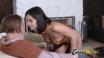 Violet gives her man a lap dance before taking his cock