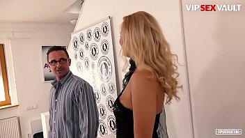 VIP SEX VAULT - Big Tits Czech Blondie Nikky Dream Tries Her Best On Adult Casting Without Telling To Her Husband