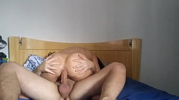 Girlfriend riding hard her horny little holes