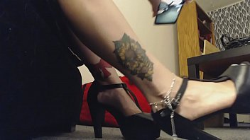 Giantess Mistress wears High Heels to Tease Little Man
