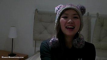 Asian teen Harriet Sugarcookie'_s 1st DP video