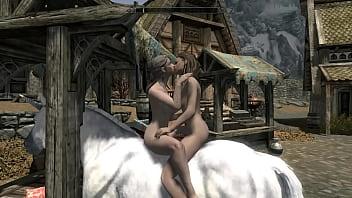 skyrim unicorne do amor com 2 lesbiscas