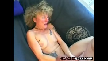 German Granny Turns Into Slut In Her Home