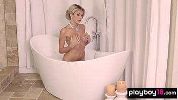 Classy Khloe Terae presents her bubbled covered boobs