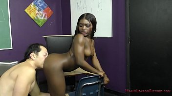 Bottom foot hurts - Sexy black student blackmails her teacher - noemie bilas - femdom