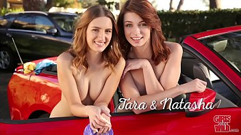 GIRLS GONE WILD - Teen Lesbians Wilding Outdoors On A Car