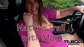 Fucking My Big Ass Stepmom Outdoors POV Creampie thumbnail