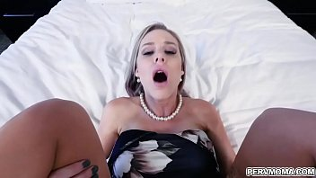 Stepson fucks his stepmom better than his dad ever does and climbs on her