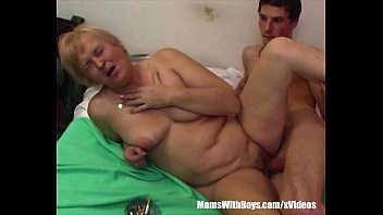 Blonde Mama On Cigs Sucks Young Cock