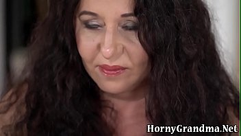 Chubby grandmother sucks cock
