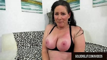 Mature woman big cock sex - Busty older floozy alexandra silk rides a long dick for a generous cumshot