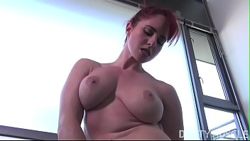 Amateur Redhead Female Bodybuilder Fingers Herself preview image