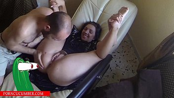 Blowjob ass and pussy on the couch