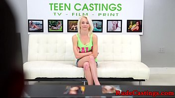 Brutal audition for restrained teen babe