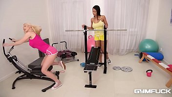Gym fuck with horny lesbian Milfs Nathaly Cherie & Isabella Chrystin