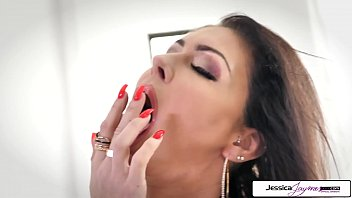 Jessica Jaymes show you her big boobs and wet pink pussy