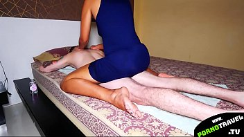 Thai chick massage my body and give head