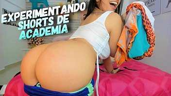 Naughty Big Butt Latina Try on Working Out tight shorts - Teasing QUEEN - Dirty Talk 13分钟
