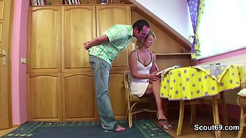 Step Mom Help Step-Son with his First Fuck When Home alone