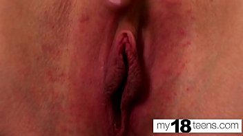 MY18TEENS - Teen Fingering Tight Pussy and Orgasm Closeup