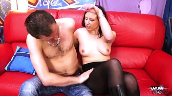 Amature pornography shoots - Broken nylons help open wild horny pussy for cock