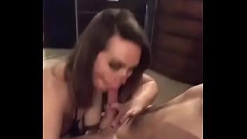 Busty british girlfriend sucks me in hotel