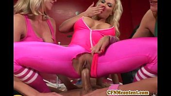 9532 Cfnm action at yoga class with Raquel preview